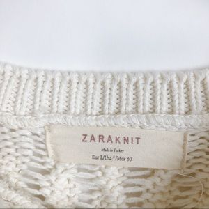 Zara Sweaters - Zara • Off White Cable Knit Sweater